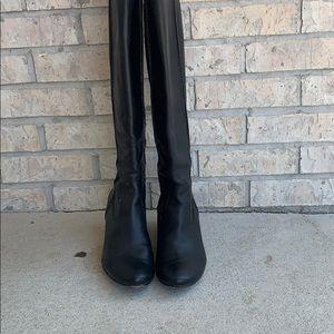 Frye Steffi Back Zip Leather Tall Boots Sz 8.5M